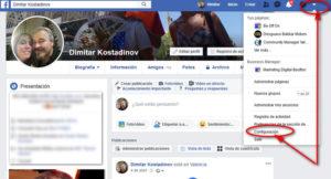 Configuración de la cuenta en Facebook